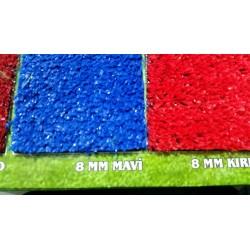mavi renk çim halı